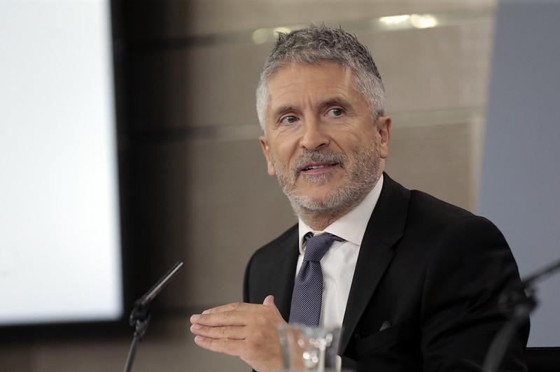 Inrikesministern Fernando Grande-Marlaska.