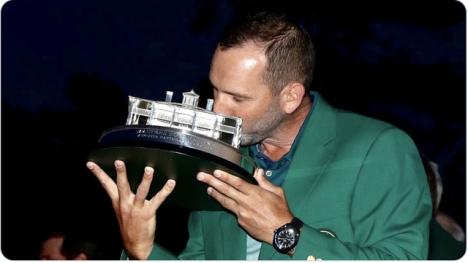 Sergio García missar årets höstupplaga av Augusta Masters, efter att han testats positiv på Covid-19. Foto: Twitter