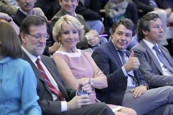 Ignacio González visar tummen upp när han fortfarande hade en hög post inom Partido Popular. Foto: PP