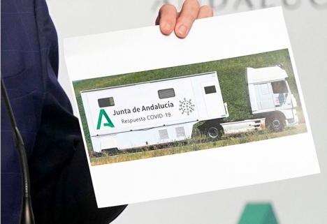 Regionalmyndigheten introducerar åtta mobila enheter för att genomföra masstestningar i Andalusien. Näst på tur står Manilva. Foto: Junta de Andalucía