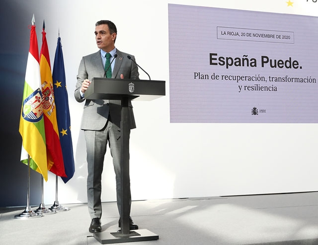 Pedro Sánchez annonserar ett färdigt vaccinprogram till nästa vecka och vaccinering av en stor del av befolkningen före nästa sommar.