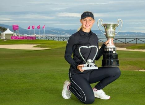 Segern på Guadalmina Golf var Emily Kristine Pedersens tredje raka på den europeiska damtouren. Foto: @spanishopen