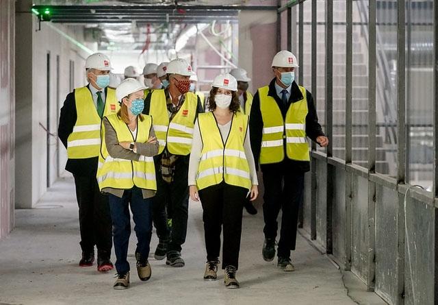 Det nya pandemisjukhuset Enfermera Isabel Zendal har invigts innan bygget ens står klart. Foto: Comunidad de Madrid
