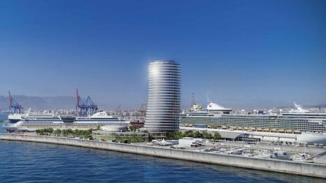 Málaga nya lyxhotell i hamnen kommer sannolikt att få sitt definitiva godkännande i början av nästa år. Foto: Estudio Seguí