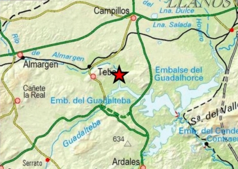 Skalvet uppmättes till 3 på Richterskalan. Foto: Instituto Geográfico Nacional