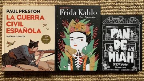 Tre illustrerade vuxenböcker som alla rekommenderas för er som är sugna på att läsa på spanska.