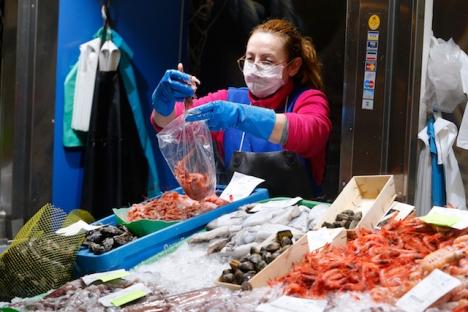 Fiskhandel i Palma de Mallorca.