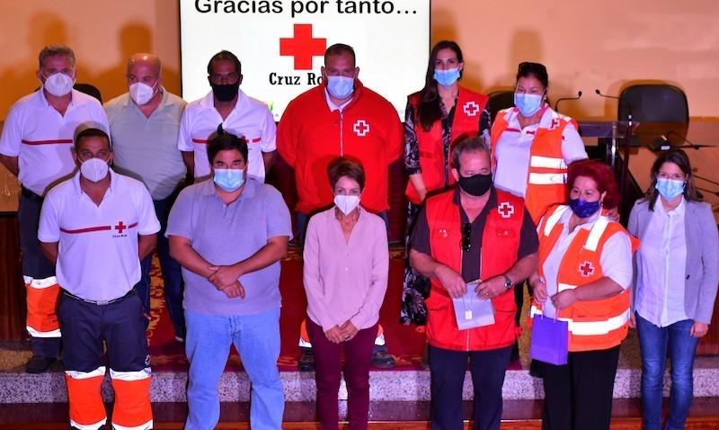 Röda Korset tackades av kommunen i Mogán så sent som i november för det arbete organisationen utfört med flyktingmottagningen sedan 2005. Foto: Ayuntamiento de Mogán