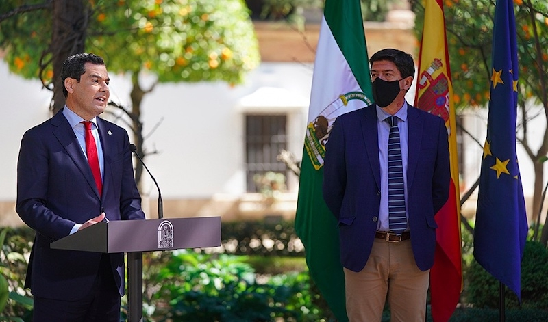 Regionalpresidenten i Andalusien, Juanma Moreno, annonserade 23 februari i samband med ett framträdande i Ronda, att de nuvarande restriktionerna består minst en vecka till.
