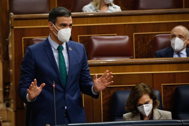 Regeringschefen Pedro Sánchez i kongressen 24 februari. Foto: Congreso de los Diputados