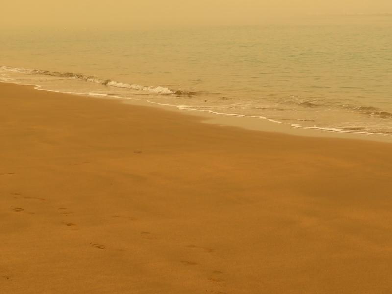Costa del Sol är just nu drabbat av så kallad calima, med hög förekomst av sandpartiklar i luften.
