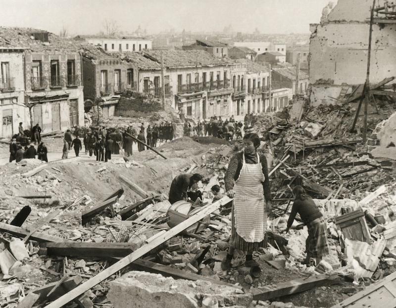Inbördeskriget 1936 till 1939 är den period i Spaniens moderna historia som orsakat den största ekonomiska krisen. Bilden är tagen i Madrid i mars 1939.