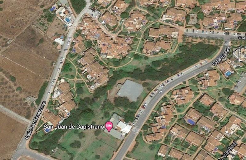 Dödsolyckan inträffade i bostadsområdet San Juan de Capistrano, i norra delen av Nerja.  Foto: Google maps