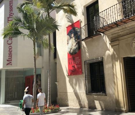 Museo Thyssen ligger i en av Málagas äldsta byggnader, Palacio de Villalón från 1500-talet.