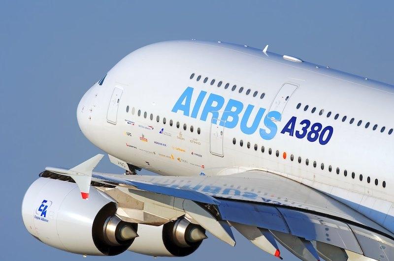Det enorma flygplanet flögs från Toulouse till Málaga för att testa olika manövrar i anslutning till flygplatsen på Costa del Sol.