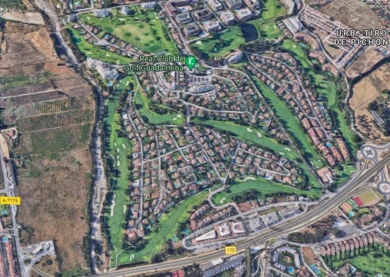 Skottlossningen som tog en 40-årig mans liv, inträffade natten till 29 mars i Guadalmina Alta, Marbella. Foto: Google maps