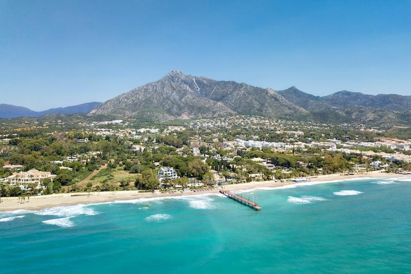 Bostäderna vid The Golden Mile i Marbella är de dyraste på hela det andalusiska kustbandet.