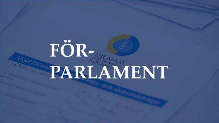 Spaniensvenskar bjuds in att delta i ett förparlament som arrangeras av Svenskar i Världen 14 april.