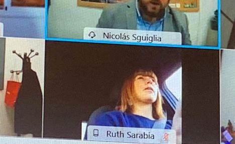 Alla som deltog i videomötet kunde se PP-rådet vid ratten.