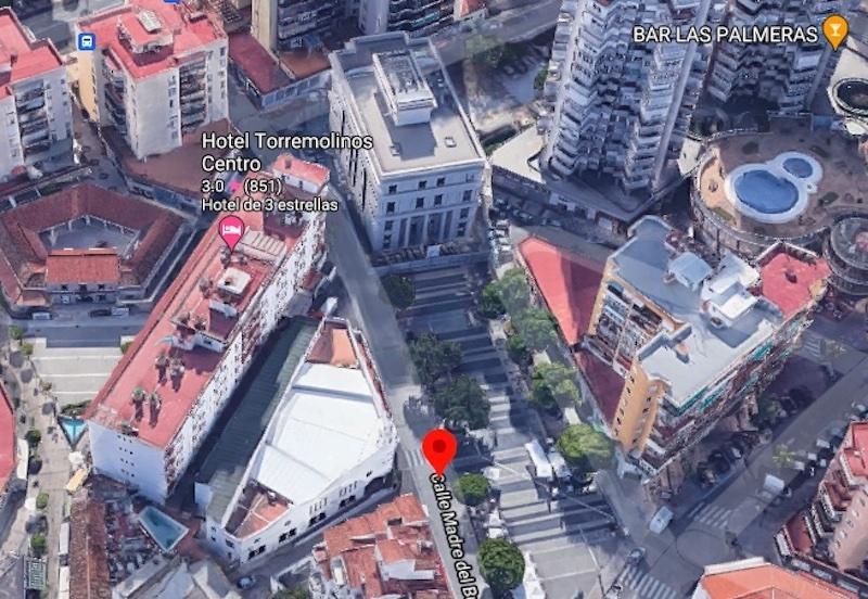 Skjutningen inträffade på Plaza Pablo Ruiz Picasso, i centrala Torremolinos. Foto: Google maps