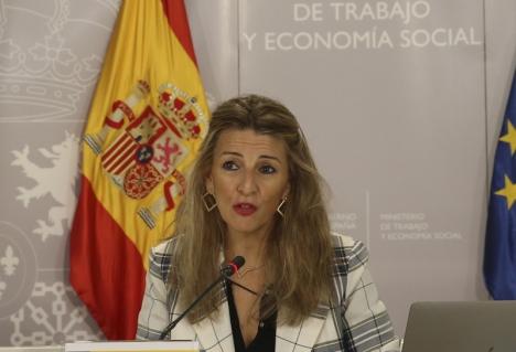 Arbetsministern Yolanda Díaz.