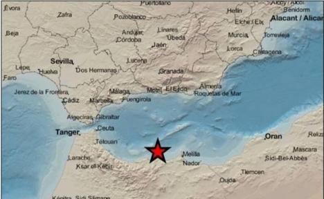 Skalvet hade sitt epicentrum utanför den marockanska kusten. Foto: EMSC