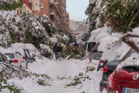 Pandemin bär inte hela skulden för den ekonomiska tillbakagången mellan januari och mars, utan även monsterstormen Filomena.