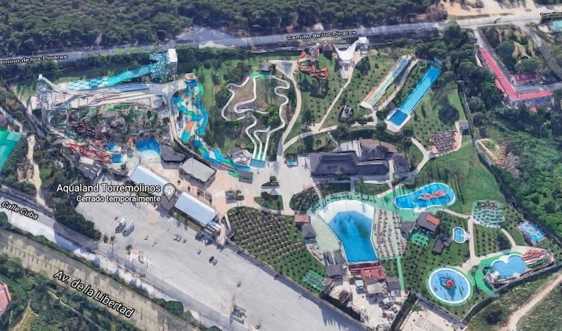 Olyckan inträffade 2011 i attraktionen som kallas för Black hole, på Aqualand i Torremolinos. Foto: Google maps