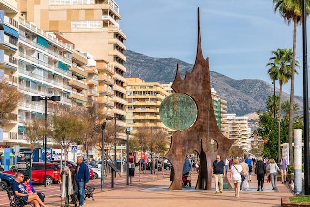 Strandpromenaden i Fuengirola.
