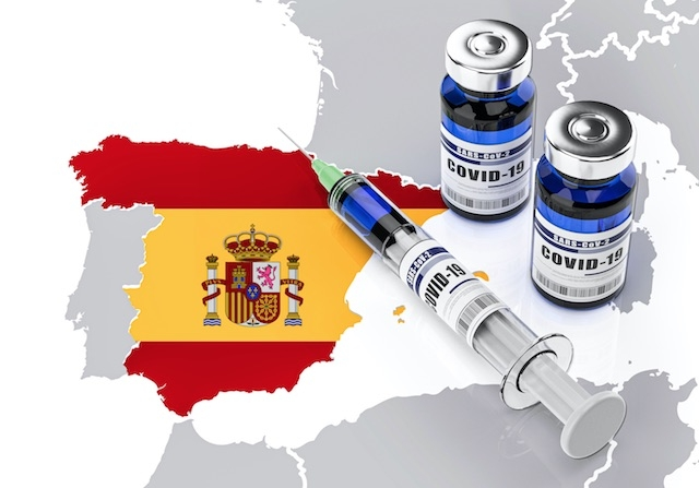 Efter en trög start sker vaccinerineringen i Spanien mot Covid-19 allt snabbare.