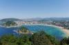 Playa de la Concha, i San Sebastián i Baskien.