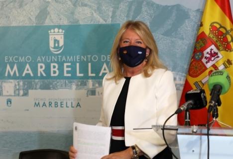 Marbellas borgmästare Ángeles Muñoz har annonserat att de tre miljoner euro som kommunen nu får tillbaka, ska gå till projekt som berör så många invånare som möjligt. Foto: Ayuntamiento de Marbella