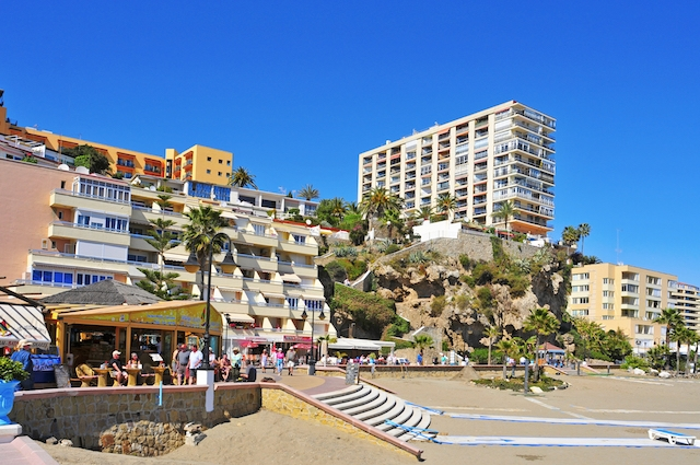 Stranden vid El Bajondillo, i Torremolinos. ARKIVBILD