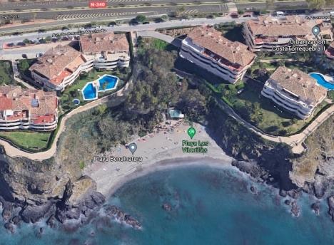 Playa Las Viborillas i Benalmádena. Foto: Google maps