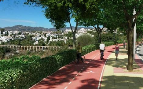Nerja kommun har klubbat igenom den första fasen i projektet att skapa en cykelbana mellan Nerja och Maro. Foto: Ayuntamiento de Nerja