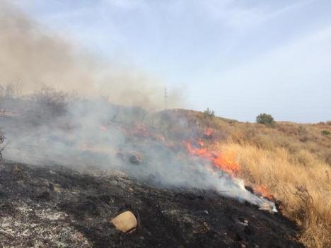 Den åtalade kvinnan ska enligt åklagaren ha orsakat sju bränder på mindre än en månad i Calanova, Mijas. Foto: Bomberos de Mijas