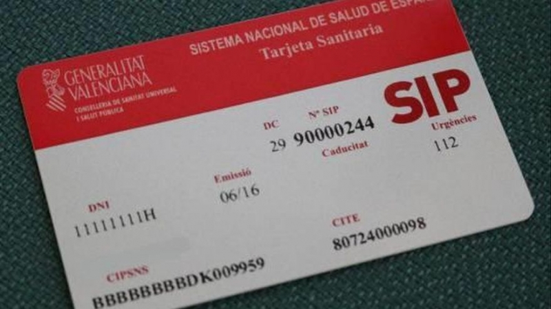 Även icke bofasta erbjuds nu vaccinering mot Covid-19 i Valenciaregionen, men först måste man skaffa sjukvårdskortet SIP. Foto: Generalitat Valenciana