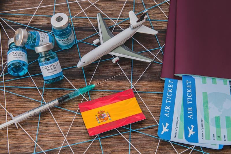 Från 7 juni kan de som är fullvaccinerade sedan minst 14 dagar resa in i Spanien utan restriktioner.