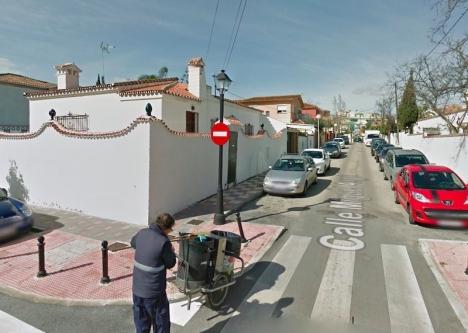 Olyckan inträffade 2015 på Calle Miguel Ángel i Fuengirola. Foto: Google maps