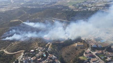 Branden vid Cerro del Águila var snabbt under kontroll. Foto: Infoca