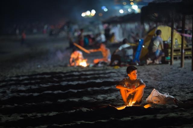 Den här scenen från en strand i Mijas i samband med San Juan 2015 kommer inte att kunna upprepas ikväll.