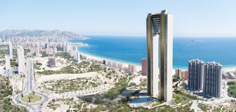 Intempo är är 198 meter högt och består av 47 våningar med 256 lägenheter. Foto: Intempo Residential Sky Resort