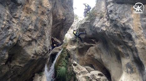 Speciellt vid Río Verde har canyoning blivit omåttligt populärt.