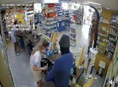 Rånet fångades på video. Källa: Guardia Civil