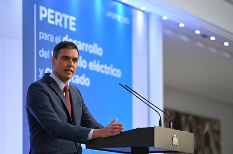 Regeringschefen Pedro Sánchez presenterade 12 juli den nya satsningen på elbilar för den kommande treårsperioden.