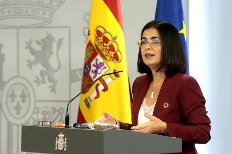 Hälsovårdsministern Carolina Darias avfärdar i dagsläget en nationell särskiljning av vaccinerade.