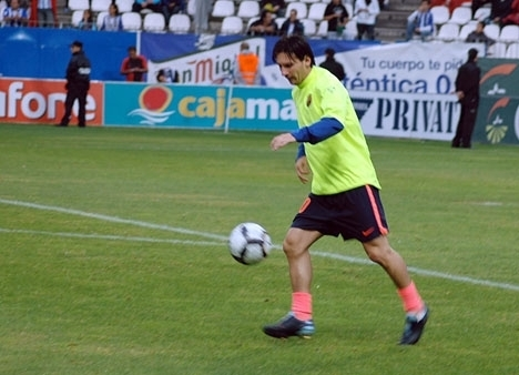 Sydkusten hade privilegiet att se och fotografera Leo Messi i Málagas stadion La Rosaleda 2009.