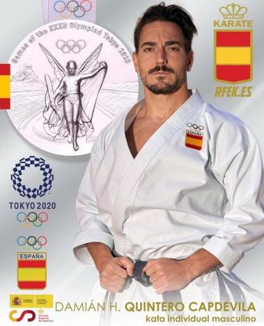 Damián Quintero, från Torremolinos, tog silver i debutsporten karate.