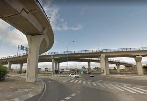 Viadukten vid Guadalmar, som anknyter till flygplatsen. Foto: Google Maps