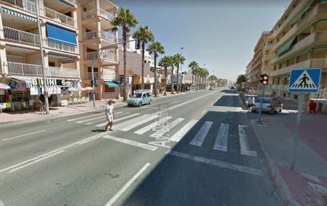 Olyckan inträffade vid ett övergångsställe på Avenida Desiderio Rodríguez, i Torrevieja. Foto: Google Maps